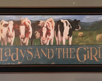 Gladys and The Girls framed giclee print