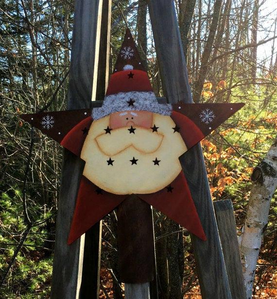 Christmas Tree Toppers Santa: Christmas Tree Topper Star Tree Topper Santa Star Topper