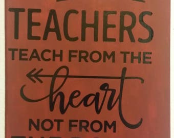 Teachers sign, Grandparents, girl, baby, sign, canvas, mom, love, adults, vinyl, painted, family, baby shower, toddler, kid, school