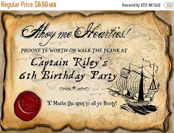 ON SALE Pirate Party Sign Boys Birthday - INSTANT Download - Editable & Printable Party Decorations by Sassaby