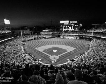 Nationals Park, Baseball Photograph, Washington Nationals Stadium, Black and White Photograph, Washington, D.C., Baseball Fan, Gift