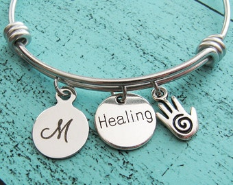 sympathy gift bracelet, encouragement gift, for healer, recovery gift, get well gift, healing hand bracelet, get well soon, gift for nurse