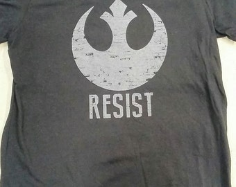 Star Wars - RESIST - Rebel Alliance -  Black T-shirt - Men/Unisex/Women