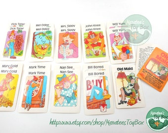 Vintage Old Maid Card Game by Western Publishing Complete Deck 1988