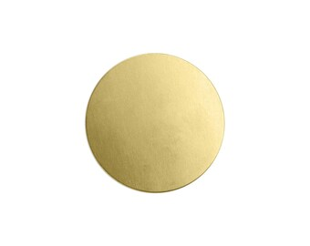 "3/4"" Brass Circle Stamping Blank, 24 gauge, Choose Quantity, Bulk Quantity Available, Metal Stamping Blank, Hand Stamped Jewelry Supplies"