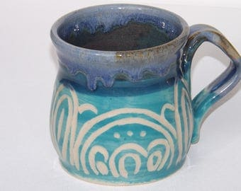 Teal Coffee Cup
