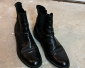 Black Leather Chelsea Boots, sz 8