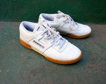 White Canvas Shoes Ladies Reeboks
