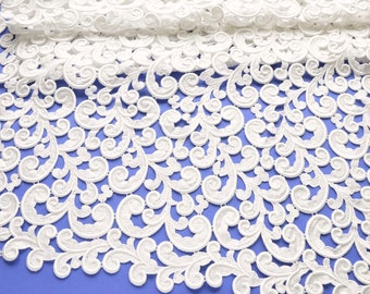 White Venice Lace Panel, White Scrolls Venice Lace, Wedding Dresss, Bridal Clutch, Wedding Accessories, Lace Decor, Lace Crafts