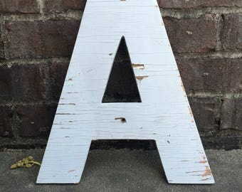 """A - 15"""" tall wooden letter"""