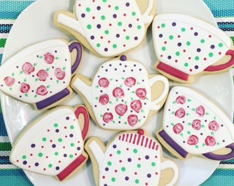One Dozen Tea Party Sugar Cookies