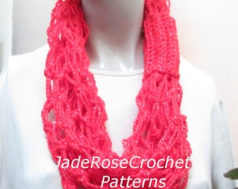Love Knot Scarf Pattern, Rope Scarf Pattern, Love Knot Cowl Pattern, Crochet Holiday Scarf Pattern, Quick Easy Crochet Cowl Pattern, PDF 240