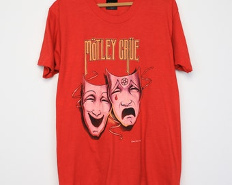 Motley Crue Shirt Vintage tshirt 1984 Theatre Of Pain World Tour concert tee 1980s Vince Neil American Glam Metal band 80s