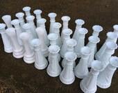 RESERVED FOR MEG - Assortment of white vases, white bud vases, wedding reception vases, milk glass vase