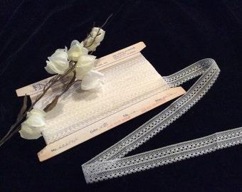 Vintage Ivory Nylon Lace, Vintage Lace, Nylon Lace, Vintage Sewing Supplies, Lingerie Lace, Wedding Lace, Bridal Lace, Vintage Lace Edging