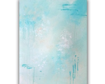 "Original Abstract Painting, Christian Art, 16x20 Acrylic Wall Art, titled ""Living Water"""