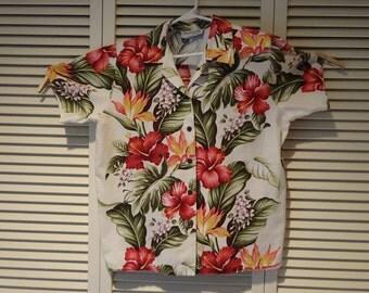 Bark Cloth Hawaiian Shirt