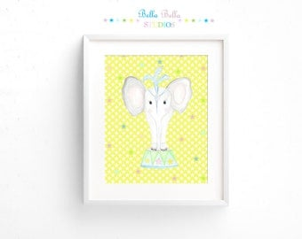 Circus Elephant Print 8x10 ~ Printable Download
