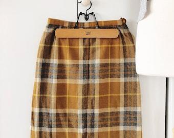 Yellow plaid skirt | Etsy