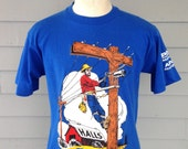 Weird late 80's, early 90's utility line worker t-shirt, fits like a roomy medium