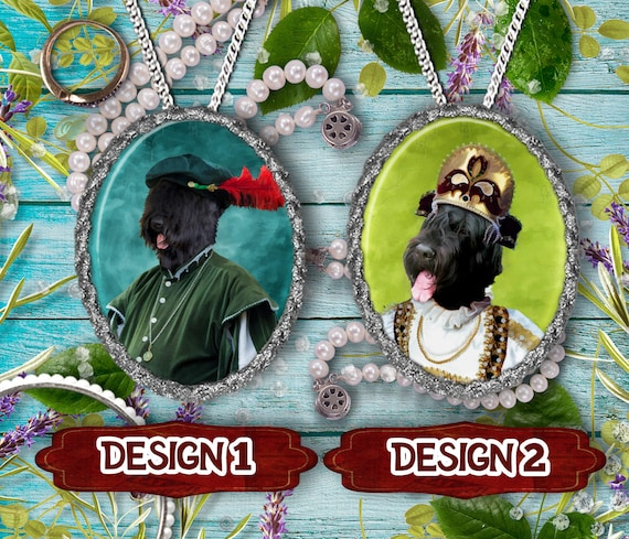 Black Russian Terrier Jewelry. Black Russian Terrier Pendant or Brooch. Black Russian Terrier Necklace. Custom Dog Jewelry by Nobility Dogs