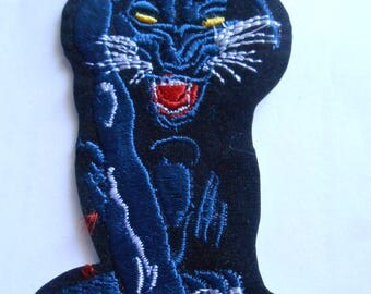 Iron-on Embroidered Panther Applique