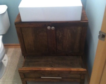 Reclaimed Wood Bathroom Vanity Etsy