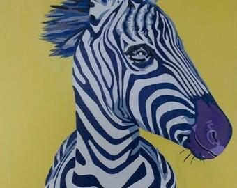 """Zebra Stripes Painting 20x24"""""""