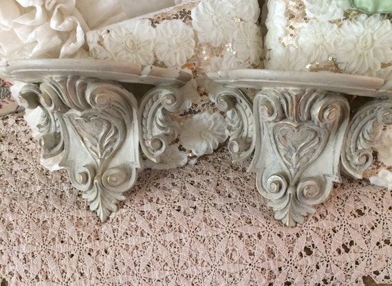 Large Corbel Style Shelves Farmhouse Fixer Upper Painted In