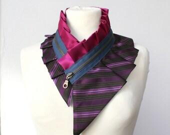 Bib necklace, silk collar necklace, women's jewelry - fashion gift, silk collar accessory, styling gift idea (+ gift box) #218