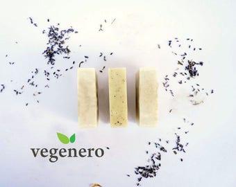 VegeBar Lavender | Vegan Soap Bar | Face, Body & Hair Shampoo | calming, baby, exfoliating, inflammation, skin irritant, palm-free natural