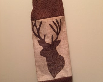 Plastic Grocery Bag Holder - Deer - Woods - Shopping Bag Dispenser