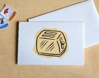Toaster Letterpress Greeting Card