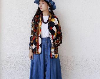 Vintage Scarves Patchwork Kimono