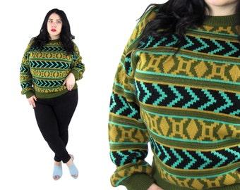 Plus Size Vintage 1980's  Knit Sweater Size 1X