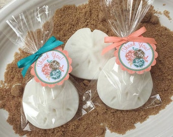 10 SAND DOLLAR SOAP {Favors} - Nautical Birthday, Ocean Soaps, Nautical Baby Shower, Wedding Soap Favors, Beach, Handmade Soap, Party Favors