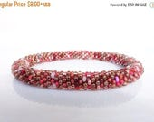 spring cleaning SALE Nepal rollon Bracelet/ multicolor red, scarlet colors/ choose your SIZE: small, middle or big /high quality Beadcrochet