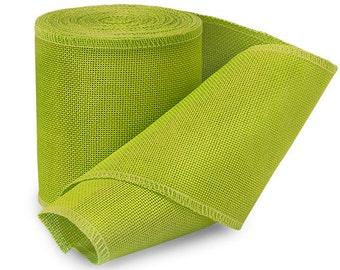"5YDS Chartreuse Lime Green 4"" Soft Jute Burlap Fabric Ribbon (Free Shipping!)"
