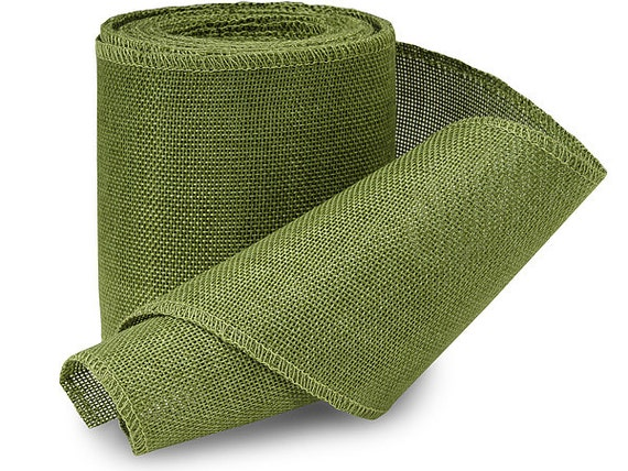 5yds Moss Green Leaf 4 Quot Soft Jute Burlap Fabric Ribbon