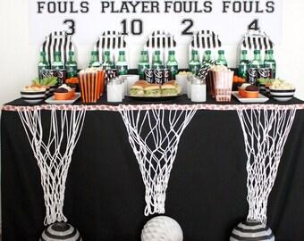 Scoreboard, Basketball, Basketball Playoff, Basketball Watch Party, Sports Theme, Birthday Party, Basketball Bracket, Backdrop Printable