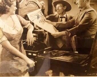 Autograph Movie Star Tim McCoy Columbia Pictures Photo