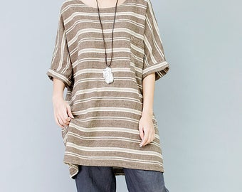 Womens Loose Fitting Short sleeve shirt Large size Summer Shirt