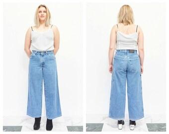 90s Wide Leg Light Wash Denim Jeans