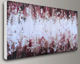 Abstract Painting Acrylic painting art painting brown Original Textured impasto large canvas Oil palette knife Art Visi made to order custom