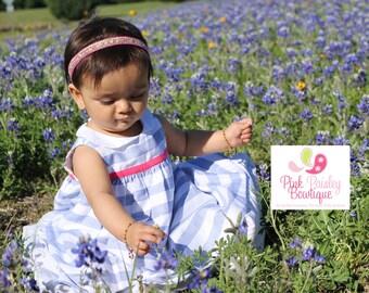 Halo Baby Headband. Baby Girl Headbands. Baby Girl Bows. Infant Headband Baby Hair Accessories.  Baby Girl Newborn Photo Shoot. Pink Gold
