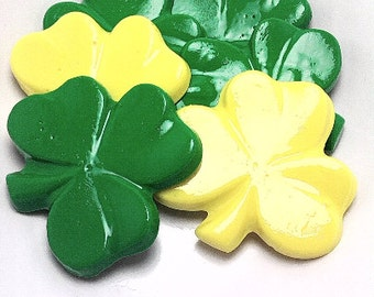 LARGE OPAQUE SHAMROCK Candies - St Patrick Day Favors, Cupcake Toppers, Shamrock Favors