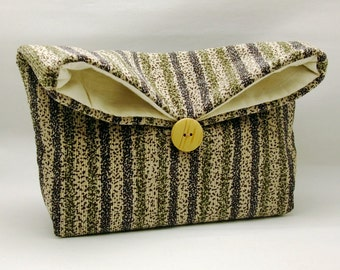 Foldover clutch, Fold over bag, clutch purse, evening clutch, wedding purse, bridesmaid gifts - Strips (Ref. FC37 )