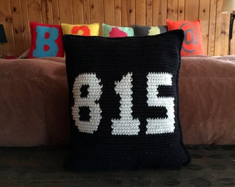 815 Rockford Area Code Pillow DIY Pattern