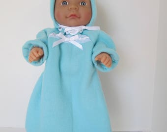 "10-12"" Light Blue Bunting and Hood Set"