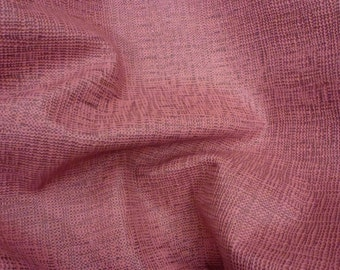 "Leather 12""x12"" Tango PINK BURLAP/ Basket Weave Pattern Cowhide 2.5oz / 1 mm PeggySueAlso™"